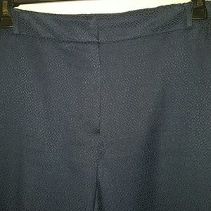 Zac & Rachel  Pants - Zac & Rachel Navy Brocade Slim Fit Pants Size 18W