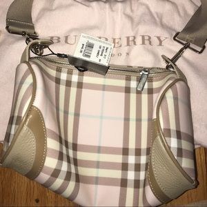 Burberry Handbags - NWT Burberry Authentic Cotton Candy Pink Barrel
