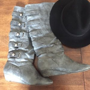 Madden Girl Shoes - Cute gray Madden Girl Boots!