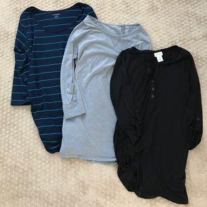 3 Medium Maternity Shirts