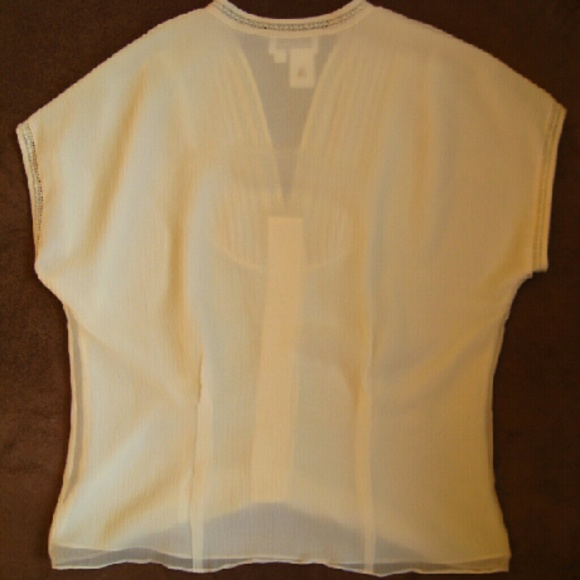 Coldwater Creek Tops - Lacy Silk Blouse from Coldwater Creek