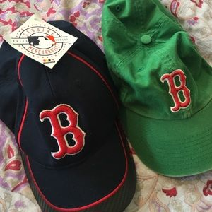 Red sox hat (navy blue only) green is sold!
