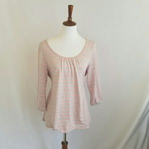 Sonoma Pink & Grey Striped Top