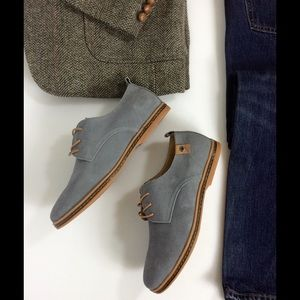 SoFitly Other - Men's Gray Suede Leather Oxford Lace Up Shoes