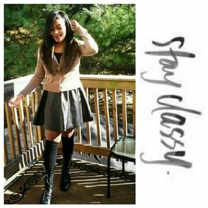 Who What Wear  Dresses & Skirts - Pleather Pleated Skirt