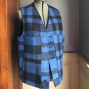 Filson Other - CC Filson Mackinaw Vest Blue Black Plaid size 38