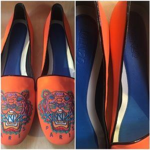Kenzo Shoes - RARE KENZO Logo print flat sz 42 hard to find size