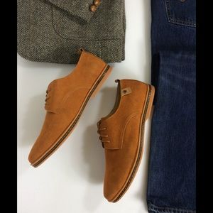 SoFitly Other - Men's Umber Suede Leather Oxford Lace Up Shoes