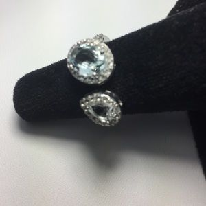 Treasures of Thailand  Jewelry - 1 HR ONLY ✨💎 ✨Aquamarine & Topaz Double Ring💎✨💎