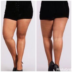 Pants - 💣PLUS💣NEW💣Velvet Shorts