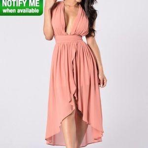 Fashion Nova Dresses & Skirts - Fashion Nova mauve goddess dress size small