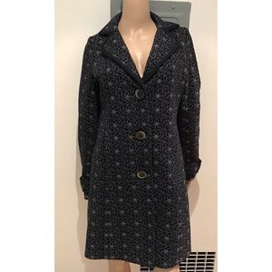 Tocca Jackets & Blazers - EUC Tocca Embroidered Roses Floral Peacoat