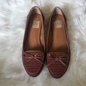 Dolce Vita Shoes - NWOT Dolce Vita Striped Red Loafers Flats