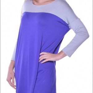 Pastels Clothing Tops - REDUCED! Duo Colorblock Tunic by Pastels, Various