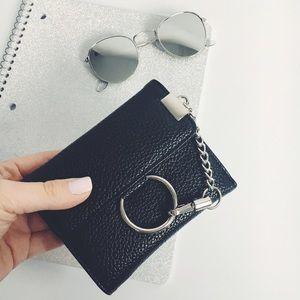 Handbags - New! Black O Ring Buckle Wallet