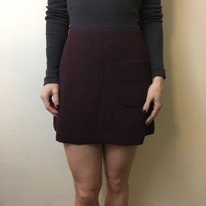 Aritzia Dresses & Skirts - Wilfred Aritzia Plum Red A-Line Pocketed Skirt