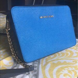 Michael Kors Handbags - Michael Kors Jet Set crossbody bag Blue/Navy