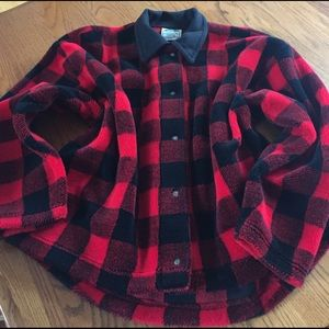 hidden bay clothing Jackets & Blazers - Plaid fleece jacket