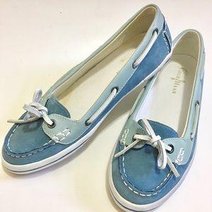 Cole Haan Shoes - Cole Haan light blue suede boat shoe