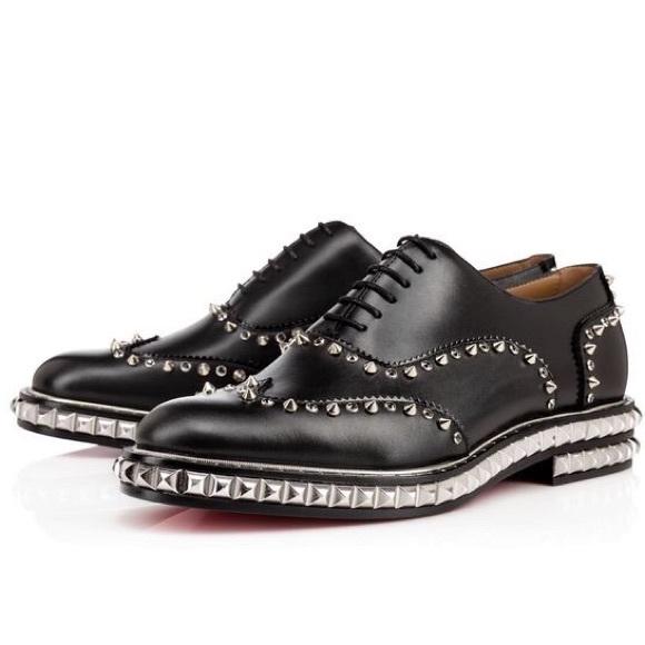 a9bd0bd7493 Men's Christian Louboutin Black Silver Bolly Shoes