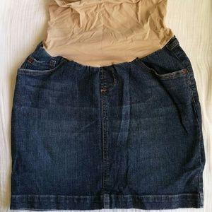 Maternity jean mini skirt