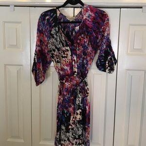 Presley Skye silk colorful shift dress