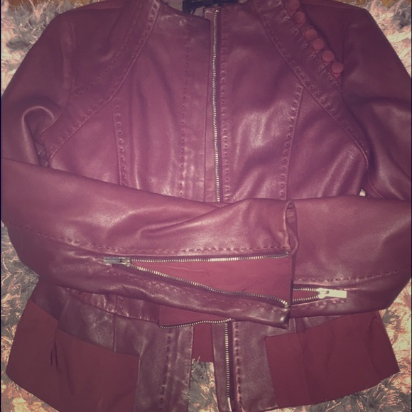 79% off BCBGMaxAzria Jackets & Blazers - Authentic leather bomber ...