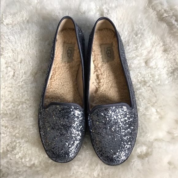 Ugg Alloway Glitter Smoking Flats