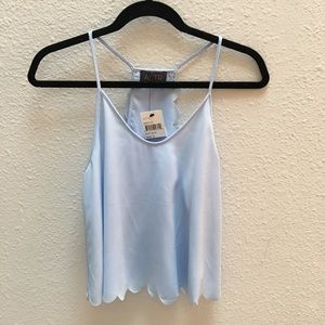 Scallop tank top