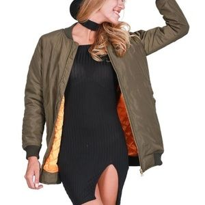 haus of layers Jackets & Blazers - New! Long bomber jacket