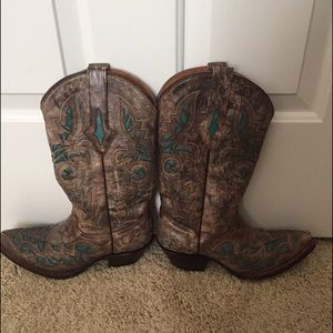 Shoes - Resistol boots cowboy brown turquoise