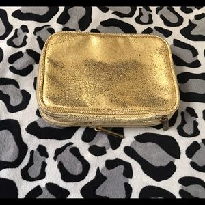 bareMinerals Handbags - Bare Minerals Gold Glitter Makeup Case