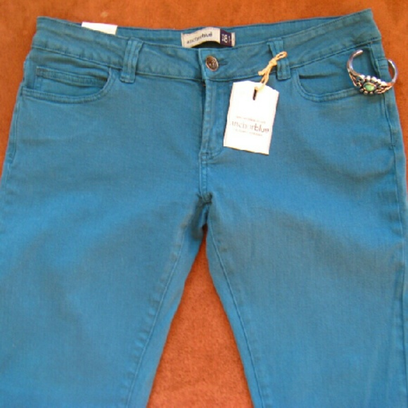 Anchor Blue Jeans - Turquoise Anchor Blue Skinny Jeans