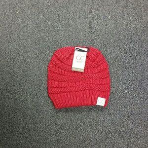 Other - NWT CC Kids Age 2-6 Beanie Hat Dark Red