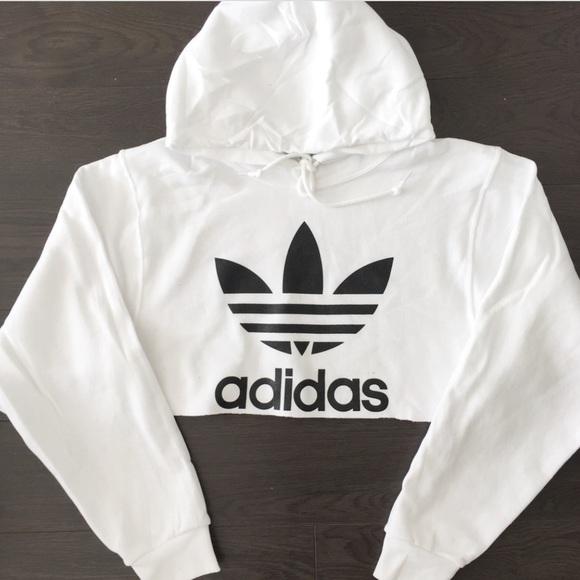 adidas cropped hood sweat