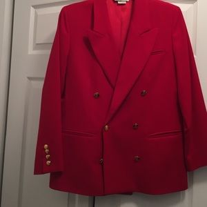 Austin Reed Jackets & Blazers - Red blazer with gold buttons.