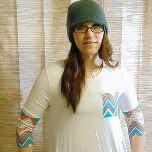 Pastels Clothing Tops - Pastels Pocket Tunic
