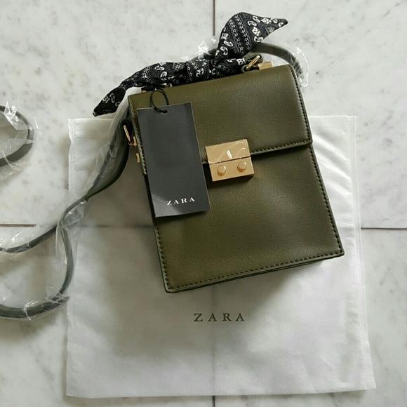 Zara Bags Olive Green Crossbody Bag Poshmark