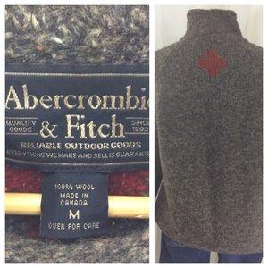 Abercrombie Red Cross Wool Sweater