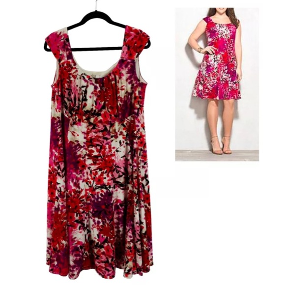 0911a9d3607 Dressbarn  db signature Dresses   Skirts - 16W 1X WATERCOLOR FLORAL ELLA DRESS  Plus Size
