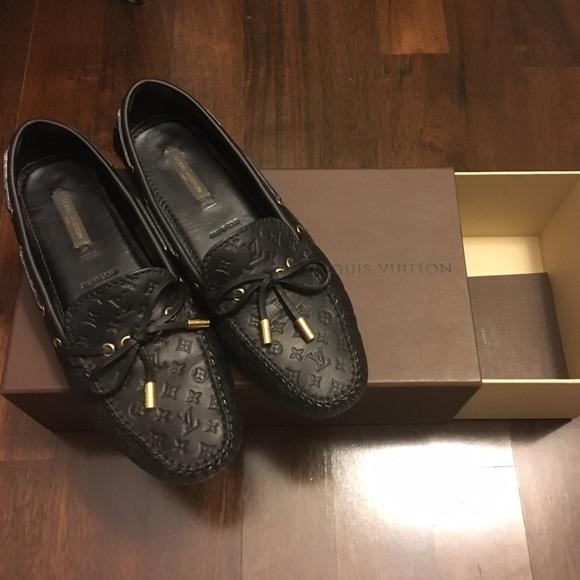 09976b047973 Louis Vuitton Shoes - Louis Vuitton Gloria monogram black loafers 7.5