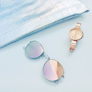 Kiley Round Mirrored Aviator Sunnies Sunglasses
