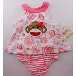 Baby Starters Other - Baby Starters Sock Monkey Top with Diaper Cover