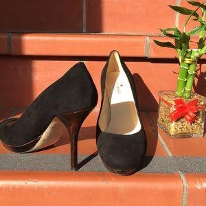 Kate Spade black suede pumps size 8
