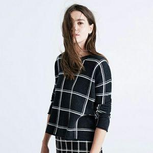 Madewell Sweaters - ☆HP☆ Madewell Windowpane Grid Sweater