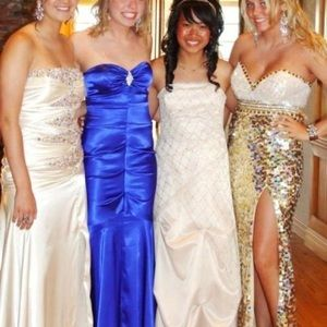 Beautiful sequin and rhinestone prom dress size 10