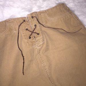 Long khaki old navy skirt.