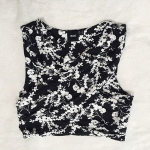 ASOS floral crop top