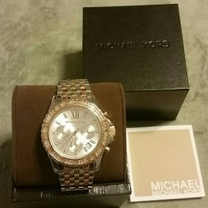 NWT Michael Kors Everest Tri Tone Watch