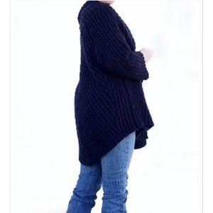 Slouchy Oversized ZaraKnit Navy Sweater